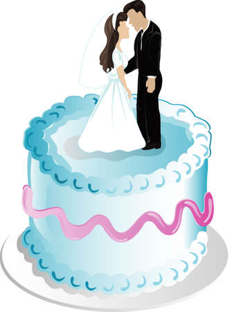 topper: Illustration of wedding cake and topper icon