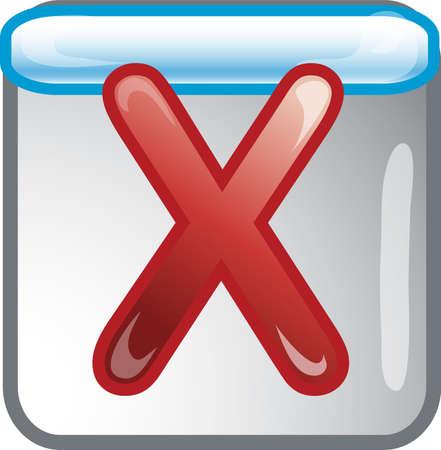 Cancel icon or symbol