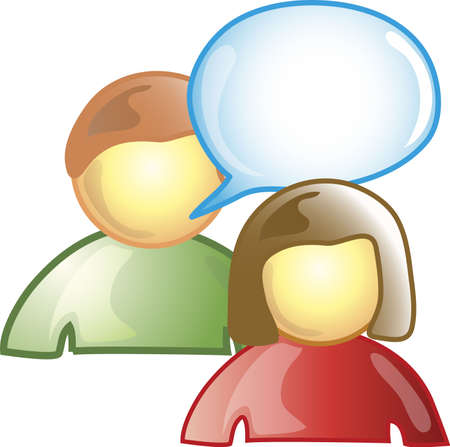 Icon for two people chatting photo