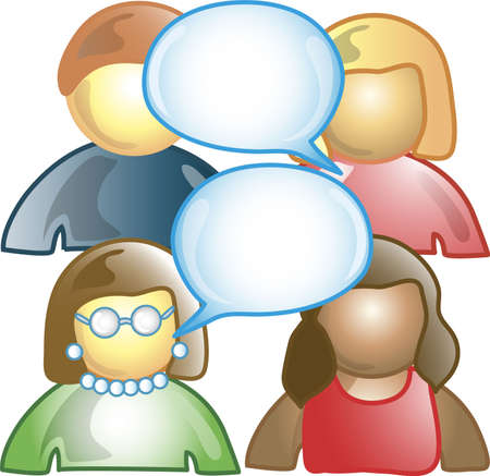 communication icons: Icon of several people talking