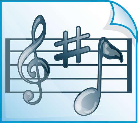 Musical scores icon or symbol Banco de Imagens - 3678627