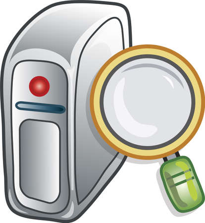 Icon or symbol for searching the server