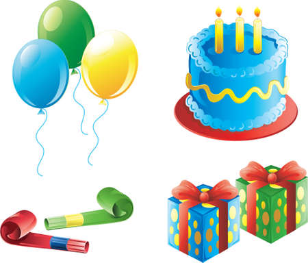 birthday party icons for a boys birthday
