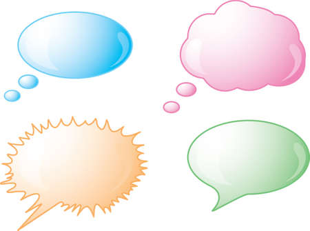 Icons of different speech bubbles
