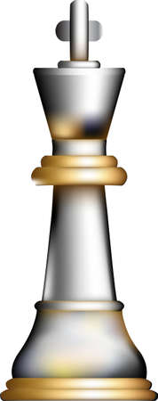 3-D illustration of a king chess piece.