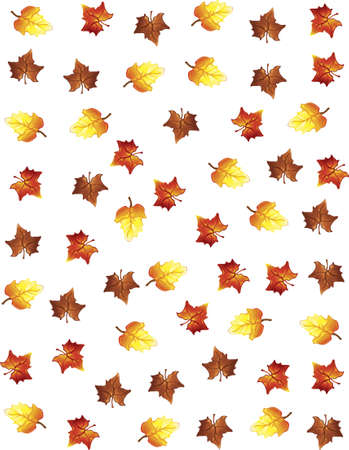 Illustration of fall leaves as a backgound Stock Illustration - 5939781