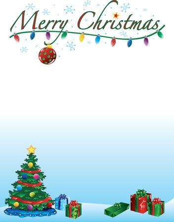 メリー クリスマスの背景と枠線 写真素材