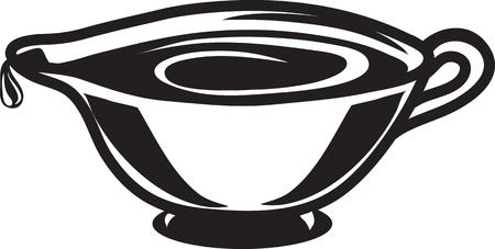 Vector illustration of a gravy boat icon symbol