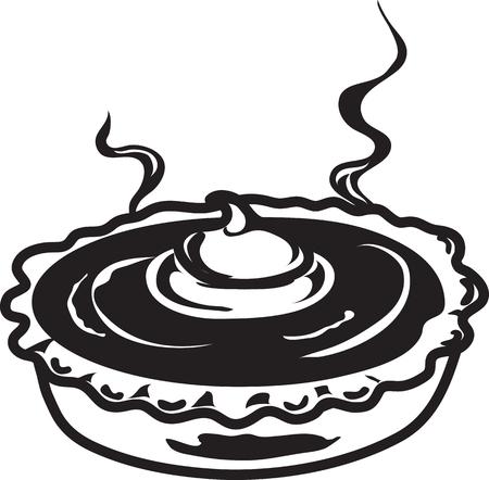 Vector illustration of a pumpkin pie symbol