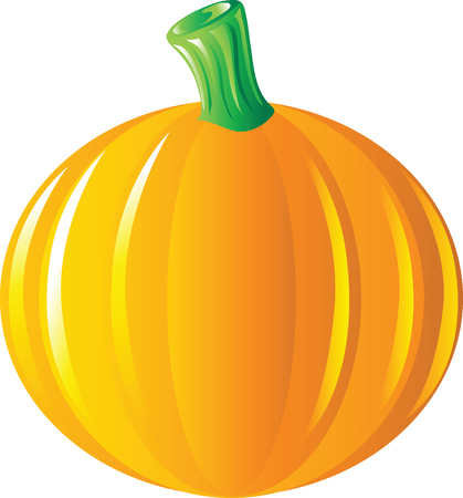Vibrant Halloween pumpkin illustration vector