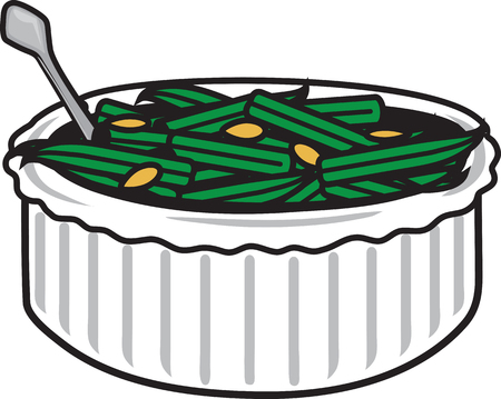Vector illustration of a green bean casserole symbol