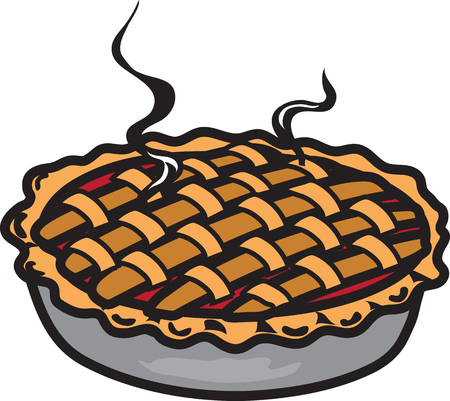 Vector illustration of a cherry pie icon or symbol