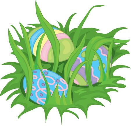 Illustration of hidden Easter eggs