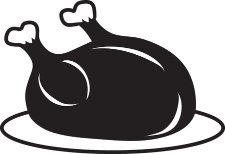 Vector illustration of a turkey icon or symbol Illusztráció