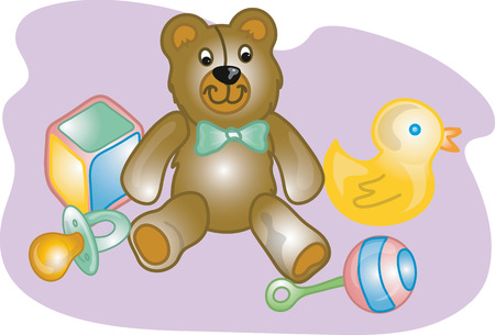 Vector illustration of baby toys