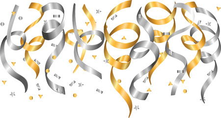 Fallig silver and gold confetti