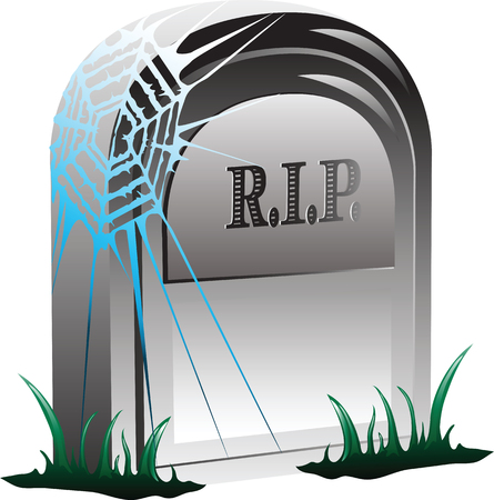 Vector illustration of a grave with RIP on the front