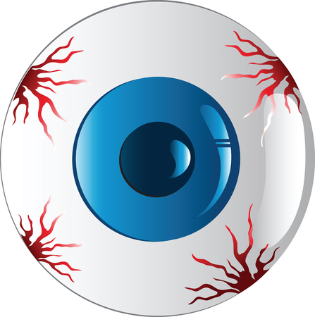 Vector illustration of a colorful eyeball