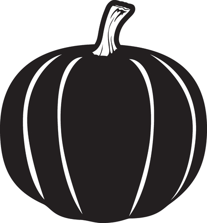 Vector illustration of a pumpkin icon or symbol
