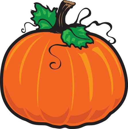 Vector illustration of a fall pumpkin icon or symbol