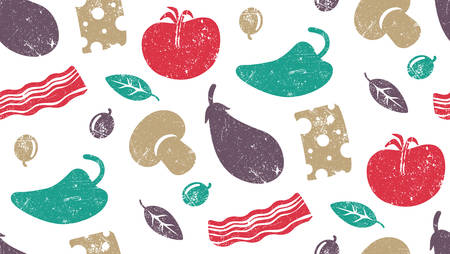 basil: Seamless pattern for coffee shop or pizzeria Illustration