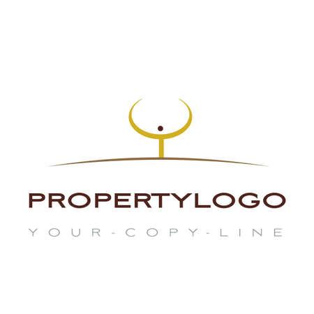 people nature: property logo Illustration