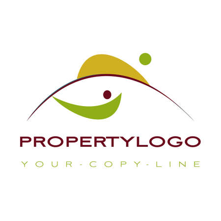 property logo your logo nature wellness Stock Vector - 9423509