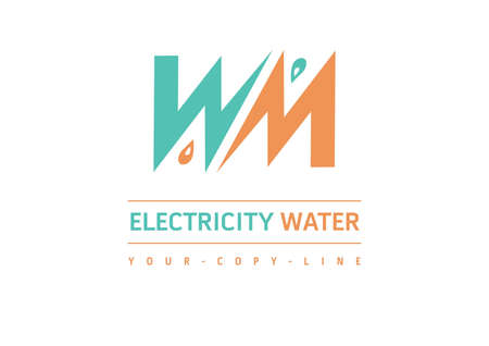 strenght: water electricity logo orange green