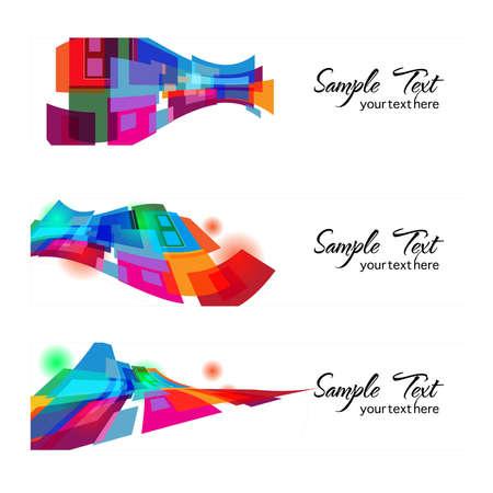 color web banner  Illustration