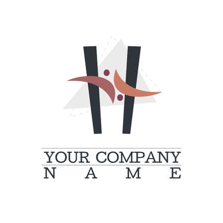 Dynamic abstract logo simple shapes Illustration