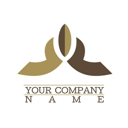 coffe design clean simple logo Illustration