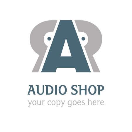 a audio shop logo Illustration