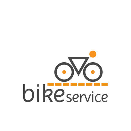 simple logo: bike service simple logo