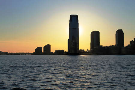 View on New Jersey from Battery Park, Twilight Stok Fotoğraf