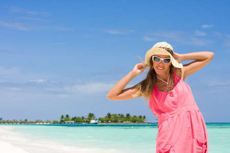 Smile lady on a tropical beach photo