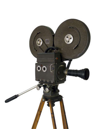 Movie camera on a white background photo