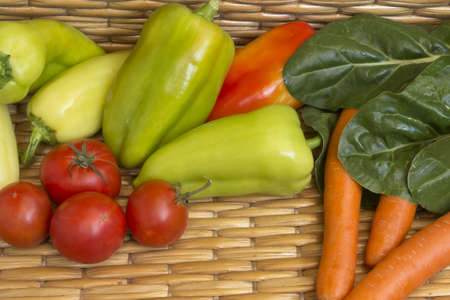 organically: Multicolored freshly picked vegetables, organically produced