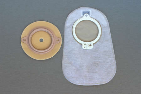 ileum: Accessory bag and disk for colostomy