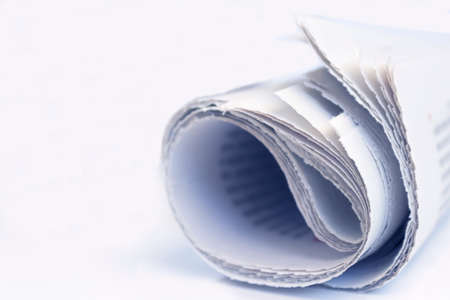 Roll of newspaper -shallow depth of field photo
