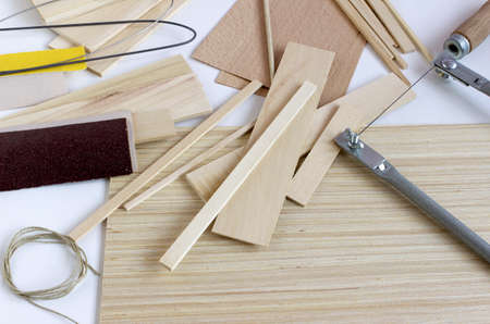 Material for making models of wood Stock Photo