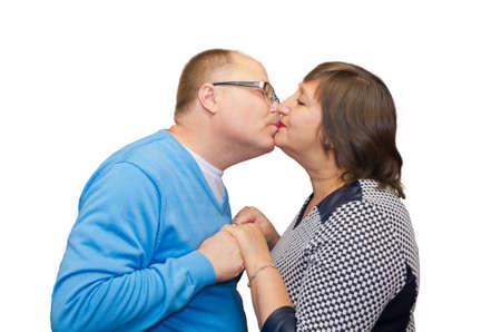 helpmate: Husband kisses his wife