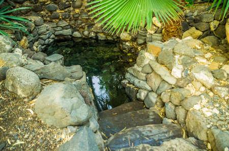 MAGDALA, ISRAEL -MAY 3: The Ocular source on the monastery Mary Magdalene May 3, 2016 in Magdala, Israel Redakční