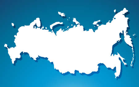 Russia map on blue background