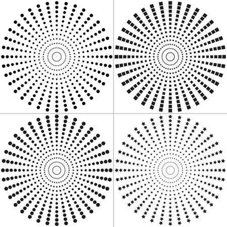 hexahedron: Circle set of Design Elements. Halftone circle Design Elements. Halftone square Design Elements. Halftone hexahedron Design Elements. Halftone star Design Elements.  illustration