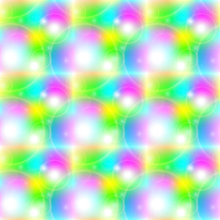 glare: Bright sunny seamless pattern of joyful halos and glare on a colored background. Vector illustration