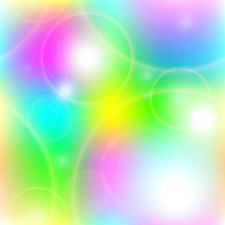 glare: Bright sunny seamless pattern of joyful glare and halos on a colored background. Vector illustration