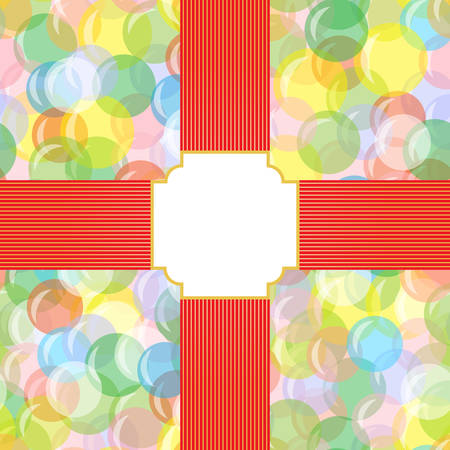 joyous festivals: Bright seamless background with balloons, circles, bubbles with a field for the text. Festive, joyful, abstract pattern. For greeting cards, boxes, packages