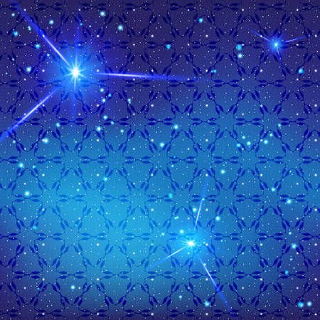 Universe, fantastic abstract background. Bright flash on background of glowing stars. Deep Space for design of websites, printing on fabric, paper