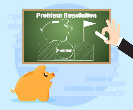 Learn different ways to solve problems. Changes in the situation in their favor. The use of non-standard, creative solutions in overcoming crisis situations. Flat style Illustration