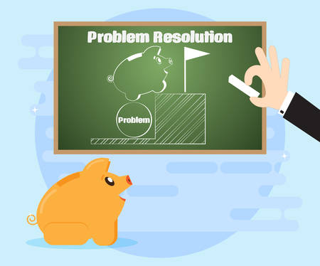 solve problems: Learn different ways to solve problems. Changes in the situation in their favor. The use of non-standard, creative solutions in overcoming crisis situations. Flat style Illustration